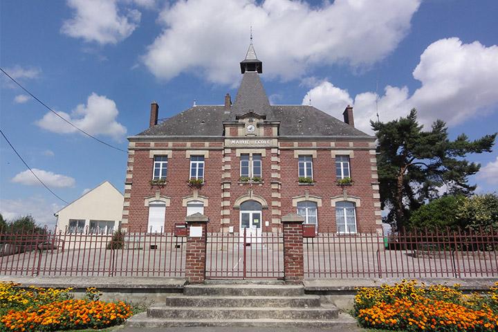 Mairie de Caumont - Village de l'Aisne dans les Hauts de France