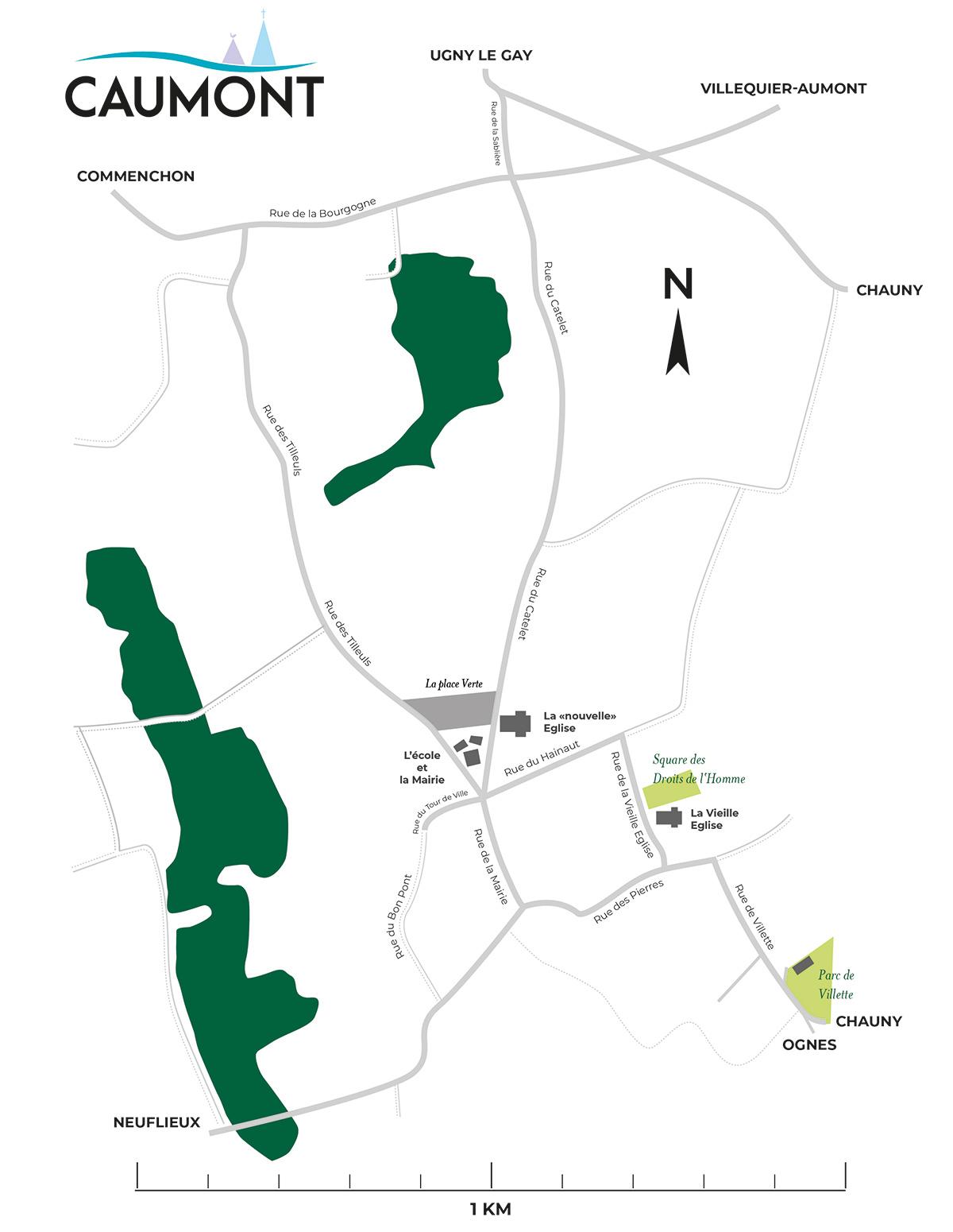 Caumont est un petit village d'environ 600 habitants dont beaucoup d'enfants et de personnes âgées